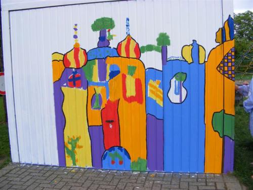 Projekt Hunterwasser Malen Grundschule Heiligenhaus