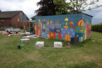 Schulhofaktion Farbe Grundschule Heiligenhaus