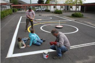 Schulhofaktion Grundschule Heiligenhaus