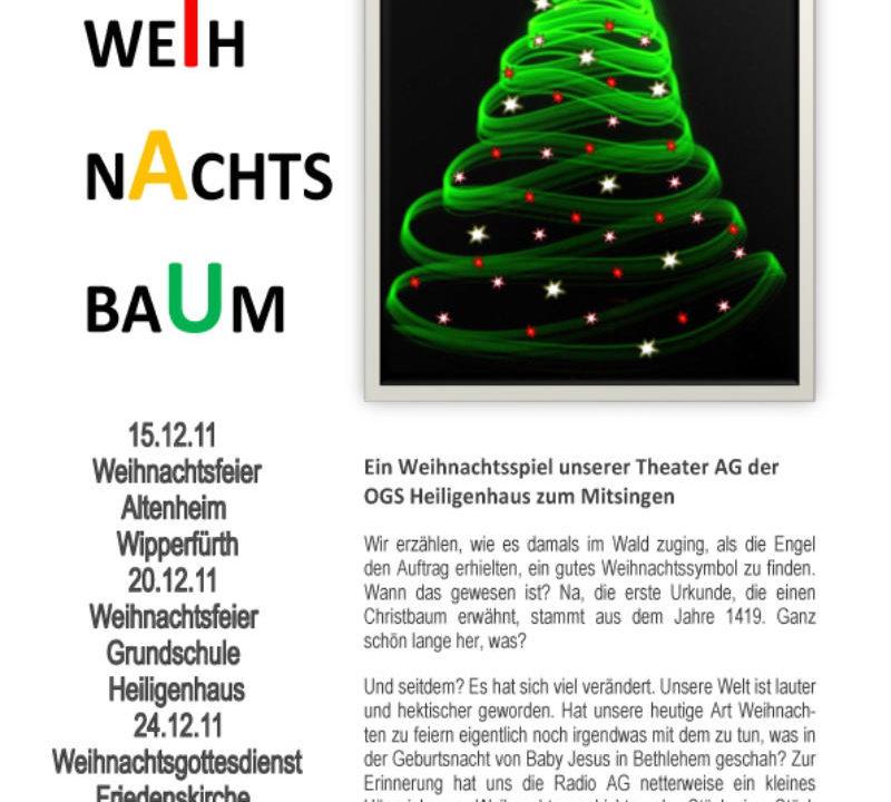 Theater Projekt Weihnachtsbaum