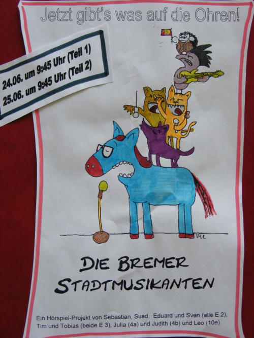 Theaterprojekt Minimusical Bremer Stadtmusikanten