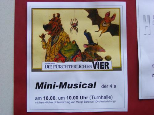 Theaterprojekt Minimusical Die Fuerchterlichen Vier
